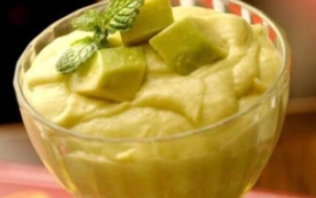 Foto da receita Creme de abacate pronta.