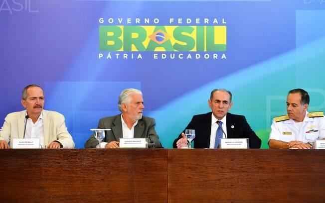 Ministros durante o balanço da mobilização contra o mosquito Aedes Aegypti nesta segunda-feira