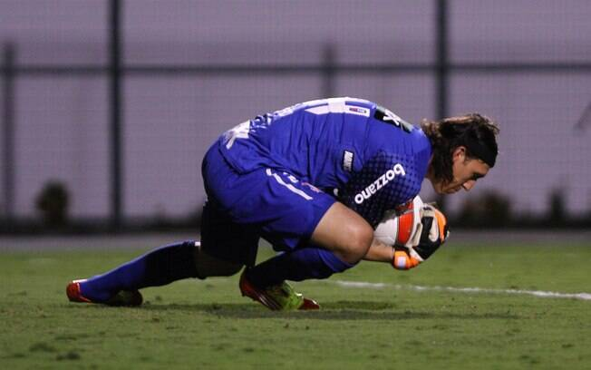 O goleiro Cássio fez sua estreia pelo  Corinthians no Pacaembu