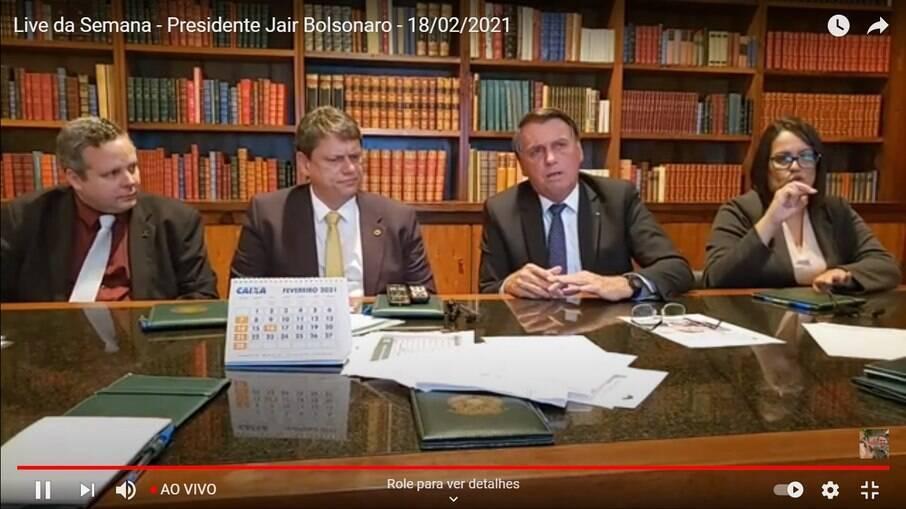 Bolsonaro na live desta quinta-feira (18)