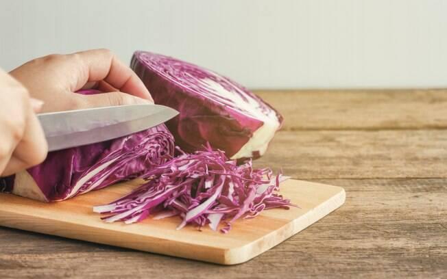Corte de legumes chiffonnade