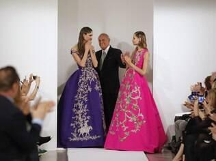 Oscar De La Renta apresenta sua coleção Outono/Inverno 2013 na Semana de Moda de Nova York