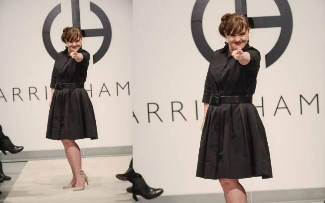 Em fevereiro, a atriz e advogada Jamie Brewer foi a primeira modelo com down a desfilar na semana de moda de Nova York . Foto: Divulgação