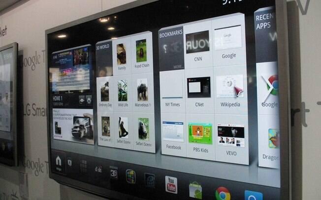 Google TV da LG foi apresentada na CES 2012