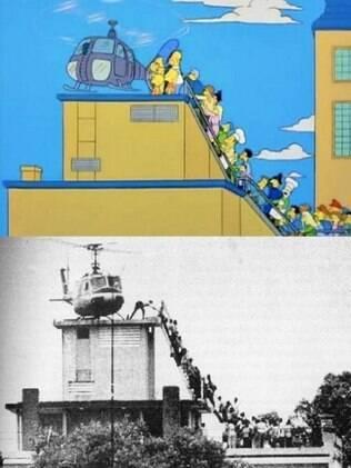 """A evacuação da CIA durante a queda de Saigon, e """"Os Simpsons"""" escalando com o resto do povo."""