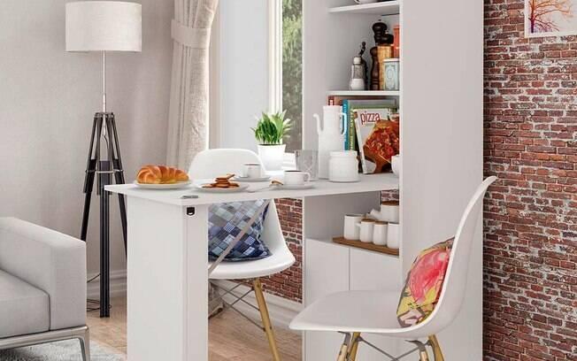 O armário organizador pode ser usado em diversos cômodos da casa; cores neutras permitem combinações especiais