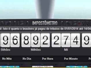 O Impostômetro, criado em 2005, mostra em tempo real quanto os brasileiros pagam em impostos
