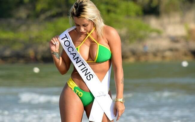 Débora Dunhill é a candidata de Tocantins do 'Miss Bumbum Brasil' de 2015. Foto: Eduardo Graboski / Mais Mídia