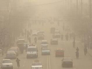 Os níveis de poluição da China estão acima do padrão internacional