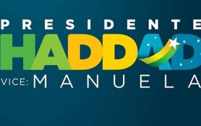 Nova marca da campanha de Fernando Haddad retirou nome de Lula e trocou vermelho por verde e amarelo
