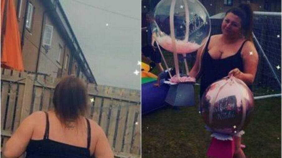Mulher descobre que perdeu 100 libras que estavam presas no balão