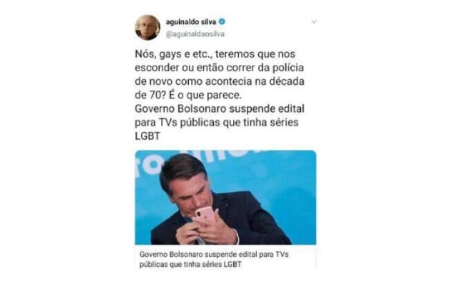 Comentário de Aguinaldo Silva