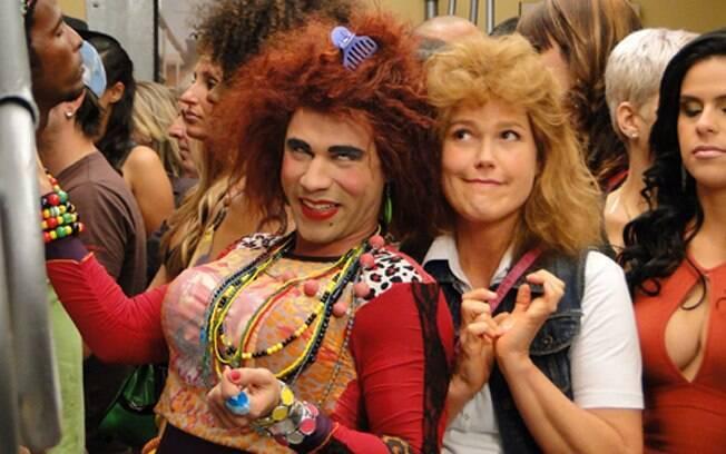 Xuxa se veste de Janete e grava