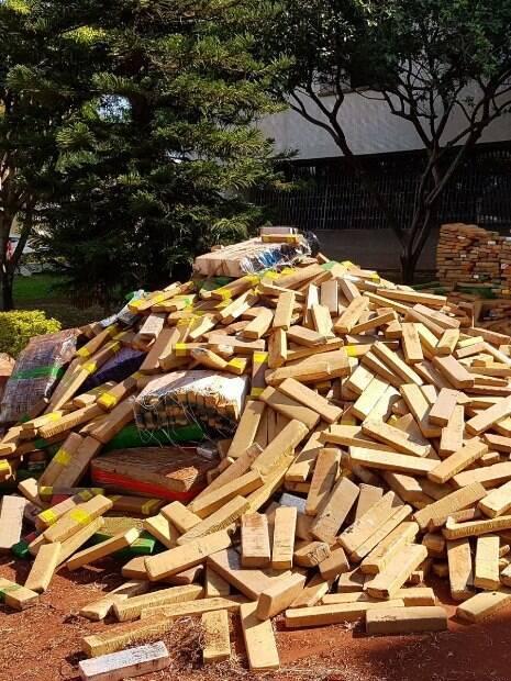 Polícia Federal contabilizou 6,2 toneladas de maconha