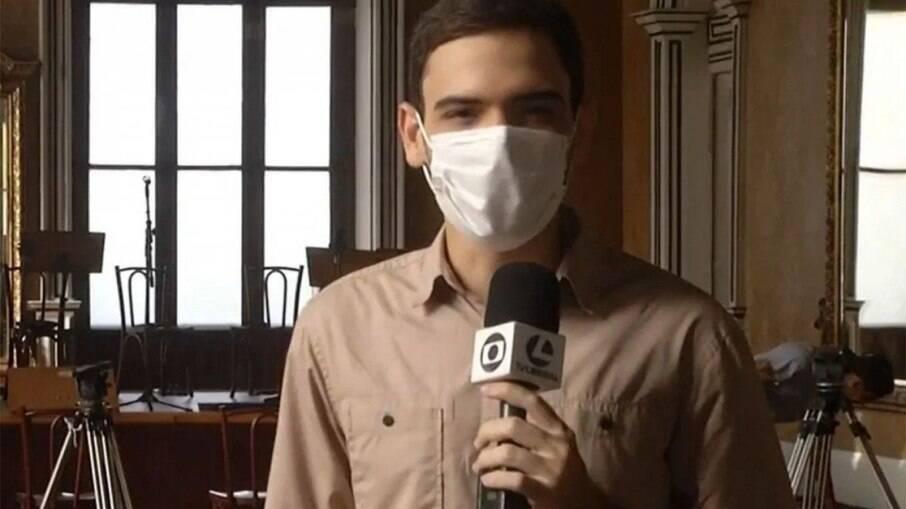 Afiliada da Globo comete gafe com o repórter Mario Carvalho