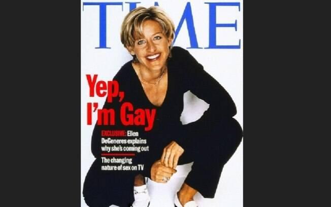 A saída do armário de Ellen Degeneres foi em 1997. 'Eu tentei evitar responder essa pergunta o quanto pude. Mas agora estou completamente confortável comigo mesma'. Foto: Reprodução/Guff.com