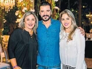 Bem animados: Andréa Andrade, Bruno Marinho e Bárbara Andrade
