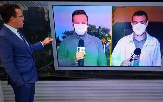 Rodrigo Bocardi pede para Sabina Simonato o ajudar a manter repórteres no ar