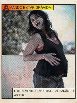 Renata Corrêa postou sua imagem quando grávida para mostrar sua oposição ao '#desafiocontraoaborto'