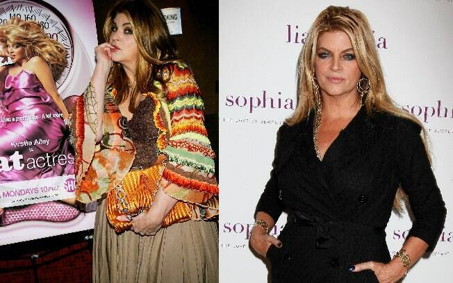 Kirstie Alley antes e depois do reality
