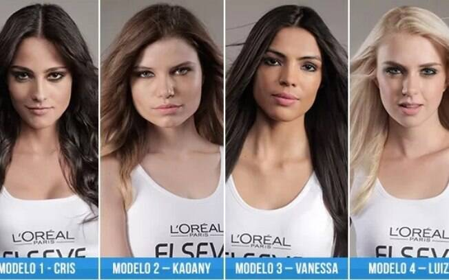 Algumas das modelos que devem receber os votos do público