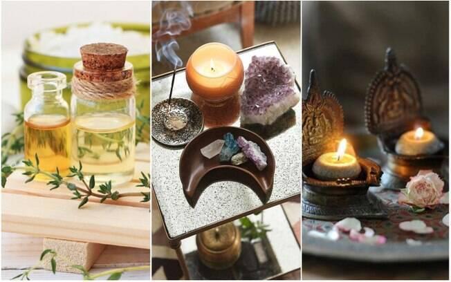 Difusores, incensos e velas perfumadas são formas de entrar em contato com aromas que contribuem com o bem-estar