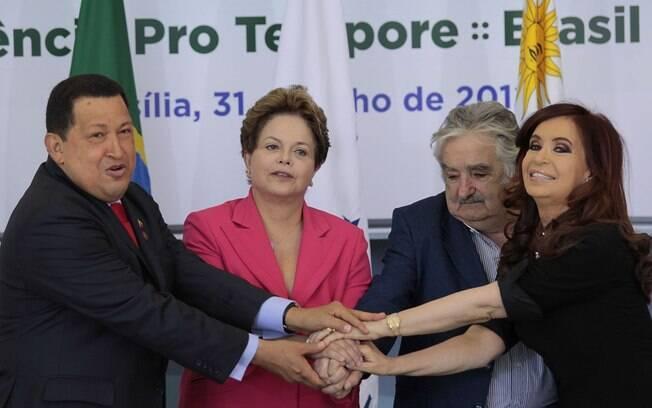 Líderes do Mercosul se reúnem para selar adesão da Venezuela ao bloco em julho de 2012