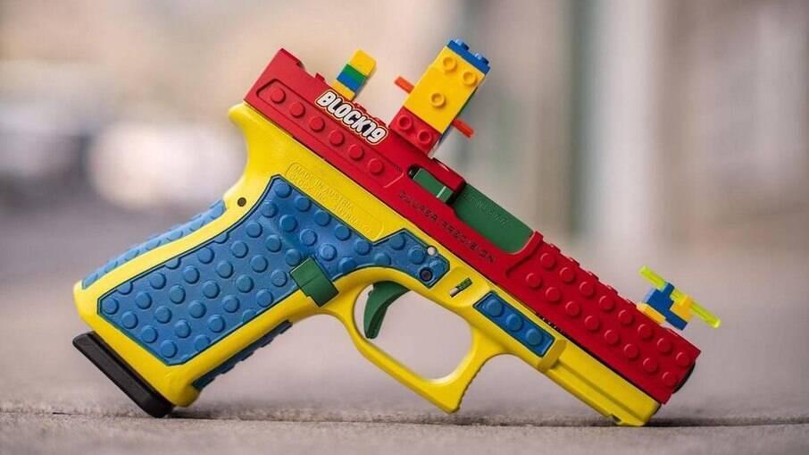 Pistola que parece construída com blocos de Lego foi fabricada para 'destacar o puro prazer dos esportes de tiro', segundo a Culper Precision