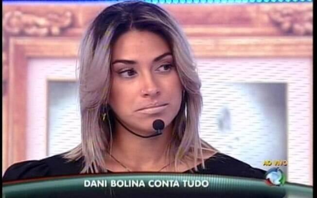 Dani Bolina em programa da Record: declarações polêmicas