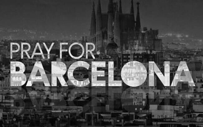 Internautas, celebridades e autoridades lamentaram o atentado em Barcelona
