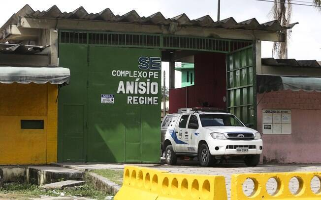 Portão principal do Complexo Penitenciário Anísio Jobim (Compaj), em Manaus, Amazonas