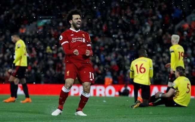 45881a4f1542b Salah fez quatro e se tornou o primeiro egípcio a conseguir tal feito