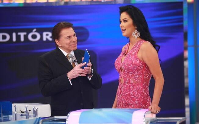 Silvio Santos provoca Helen Ganzarolli em programa