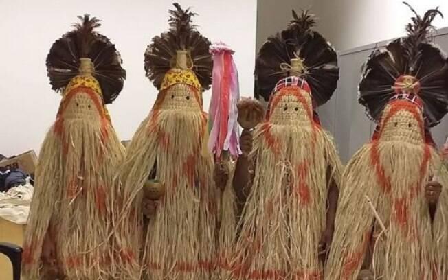 Traje tradicional dos rituais pankararu
