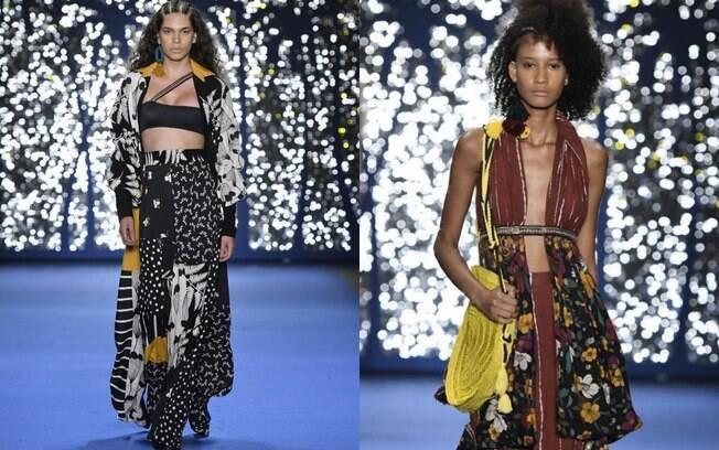 A marca Borana levou a mistura de estampas para as peças de moda praia que serão destaque na temporada verão 2019/20