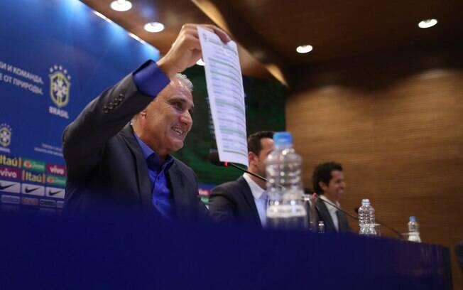 Tite começou novo ciclo à frente da seleção brasileira