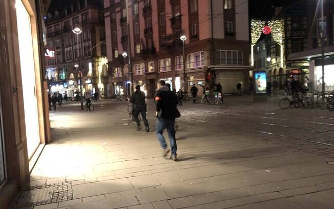 Houve pânico e correria em Estrasburgo  após tiroteio na França