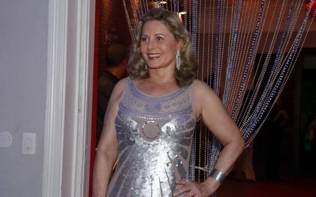 Vera Fischer na festa de lançamento de 'Salve Jorge'