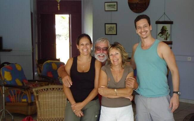 O viajante conseguiu com essa família uma carona até a Guiana Francesa
