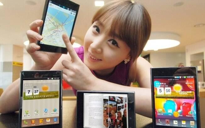 Smartphone da LG, Optimus Vu tem tela de 5 polegadas em proporção 4:3