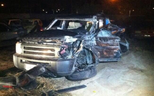 Carro de Débora Bloch: totalmente destruído