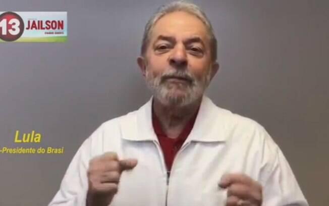 Lula gravou vídeo para pedir votos para candidato do PT em cidade no interior do Piauí