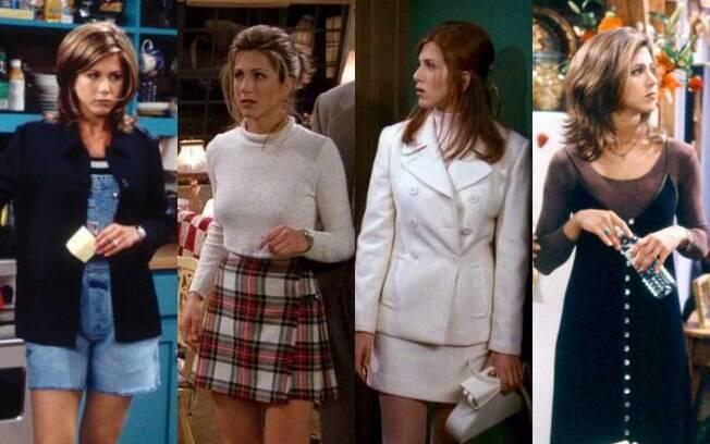 Rachel Green é um ícone de moda na série 'Friends' e influenciou muito o estilo das roupas durante a década noventista