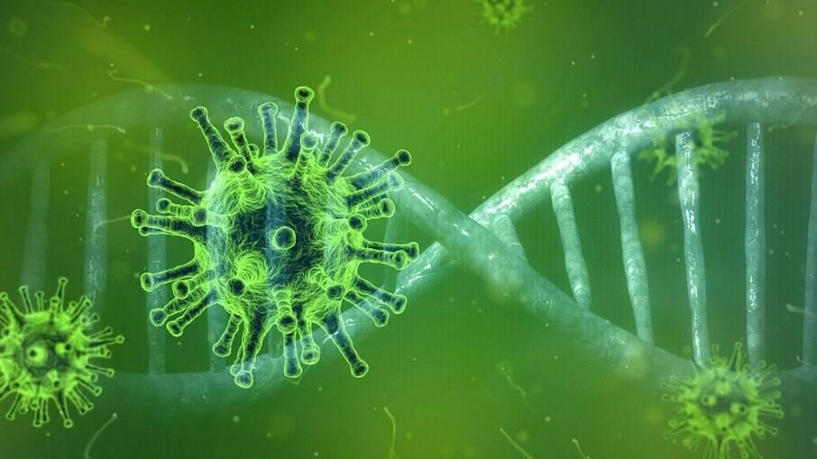 Ilustração do novo coronavírus