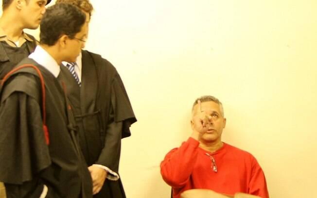 Marcos Aparecido dos Santos, o Bola, durante terceiro dia do julgamento