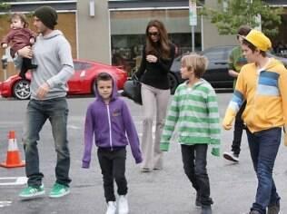 A família Beckham em Los Angeles