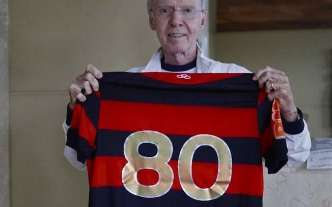 Zagallo conquistou títulos como jogador e  técnico do Flamengo