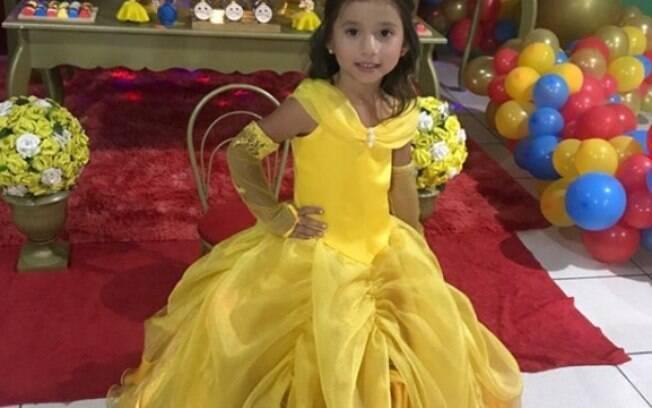 Menina realizou sonho de comemorar o aniversário com decoração da