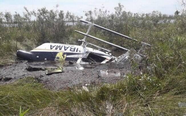 Aeronave do Ibama que atuava na força-tarefa de combate a incêndios caiu na divisa de MT e MS