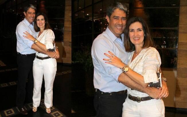Fátima Benardes e William Bonner foram ao aniversário de Tande nessa terça-feira (20), no Rio